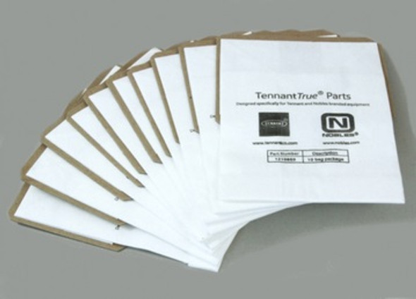 """Tennant 4.3"""" x 6"""" Paper Vacuum Bags for Battery Burnishers"""