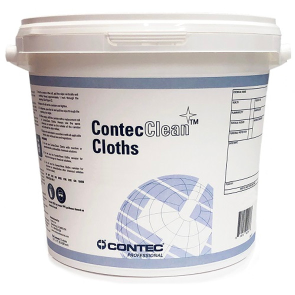 "Contec Replacement 3 Gallon Bucket with Lid for 9"" x 12"" ContecClean Cloth Wip"