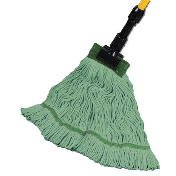 "Maintex Super Loop Green Wet Mop 5"" Headband, Medium"