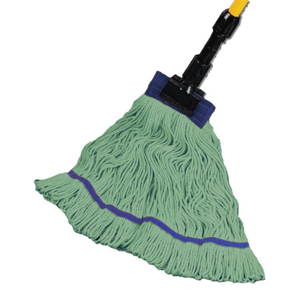 "Maintex Super Loop Green Wet Mop 5"" Headband, X-Large"