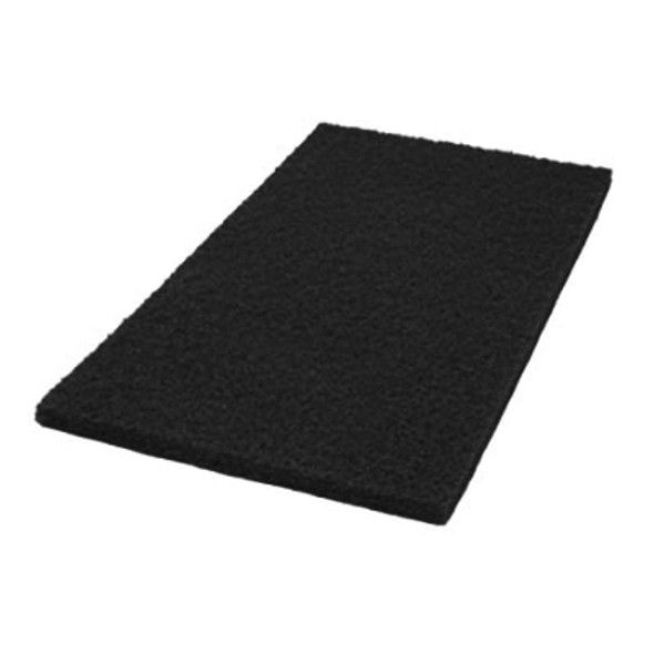 "Maintex Black Stripping Pad 14"" x 28"""