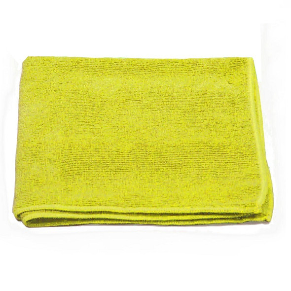 """A & A Wiping 16"""" x 16"""" Microfiber Cloth, Yellow"""