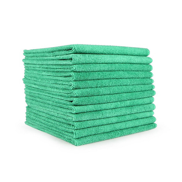 "A & A Wiping 16"" x 16"" Microfiber Cloth, Green"