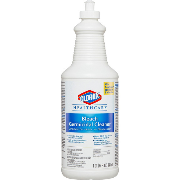 Clorox Healthcare Bleach Germicidal Cleaner with Pull-Top , 32 oz.