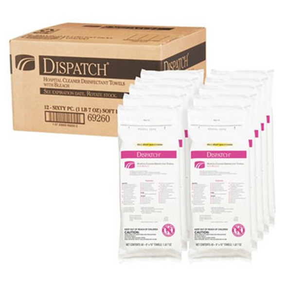 Clorox Dispatch Hospital Cleaner Disinfectant Towels with Bleach