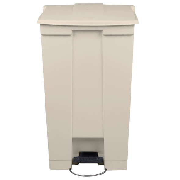 Rubbermaid Legacy 23 Gal Mobile Step-On Container, Beige