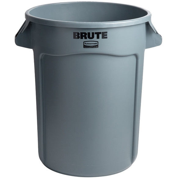 Rubbermaid Vented BRUTE 32 Gallon Container, Gray