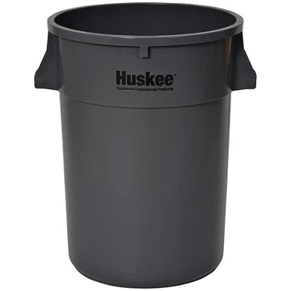 Continental Huskee 44 Gallon Round Receptacle, Grey