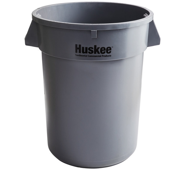 Continental Huskee 32 Gallon Round Receptacle, Grey