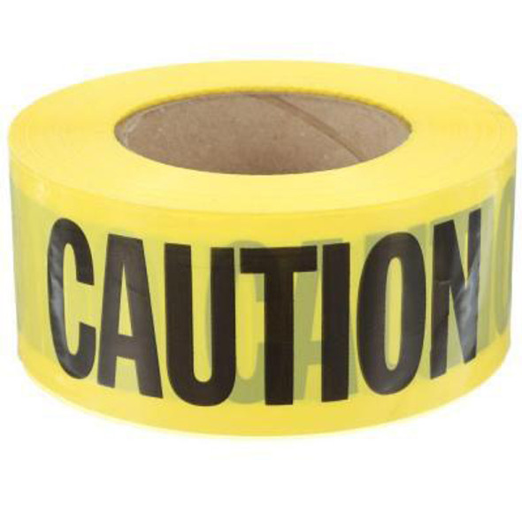 """Barricade Tape, Caution Do Not Enter, Yellow with Black Letters, 3"""" x 1000 ft"""