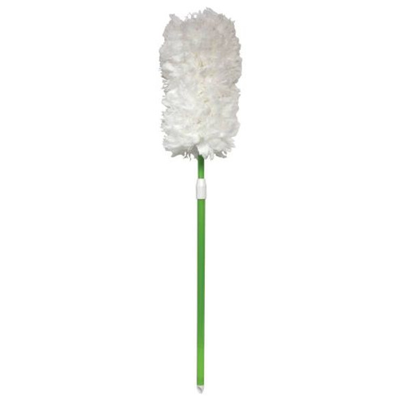"""Impact Microfiber 33-45"""" Extendable Twist-and-Lock Duster, Green Handle"""