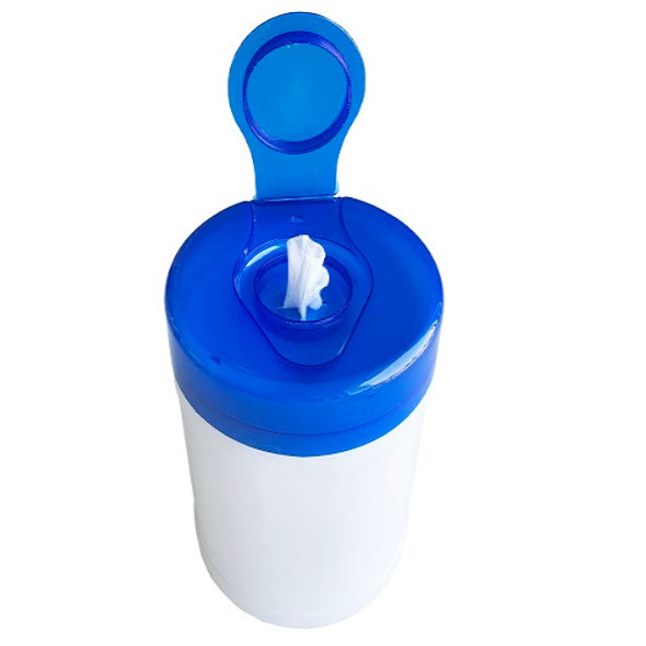 """Teh Tung Large Canister & Lid with 6"""" x 6.75"""" Dry Wipes"""