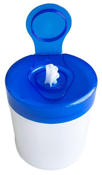"Teh Tung Jumbo Canister & Lid with 6"" x 8"" Dry Wipes"