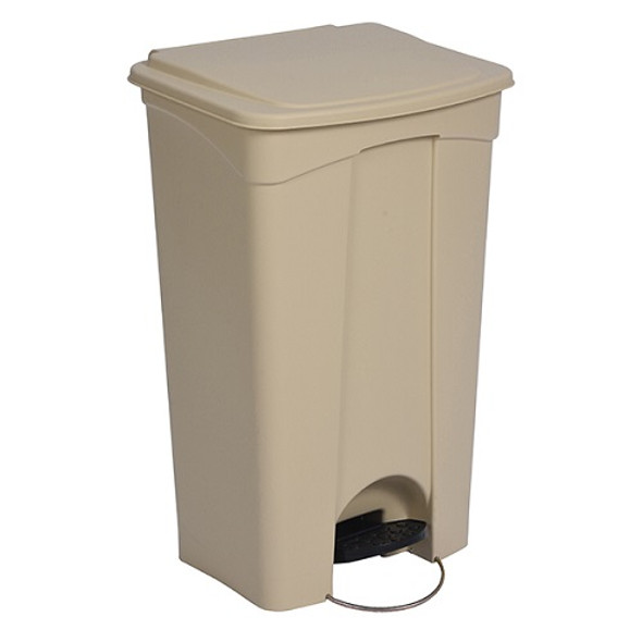 Continental 23 Gal Step-On Receptacle, Beige