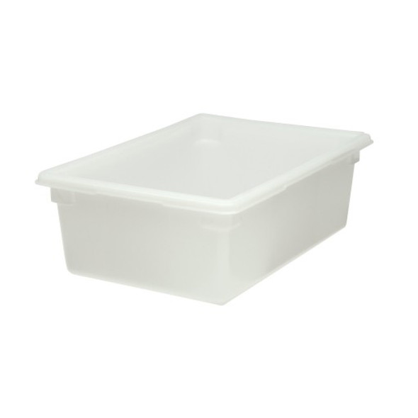 "FG350000WHT 12.5 Gal Food/Tote Box - 26x18x9"" White Poly"