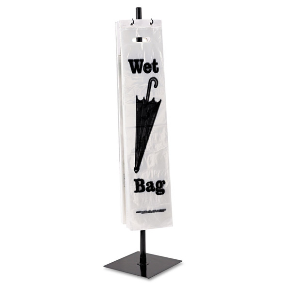 Tatco Portable Stand For Wet Umbrella Bags, Steel-Black