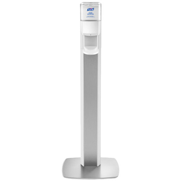 PURELL MESSENGER ES8 Silver Panel Floor Stand with Dispenser