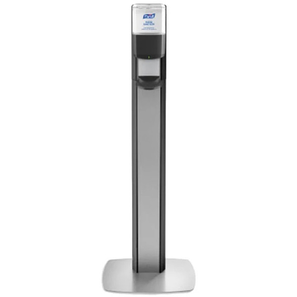 PURELL MESSENGER ES6 Silver Panel Floor Stand with Dispenser, Gray