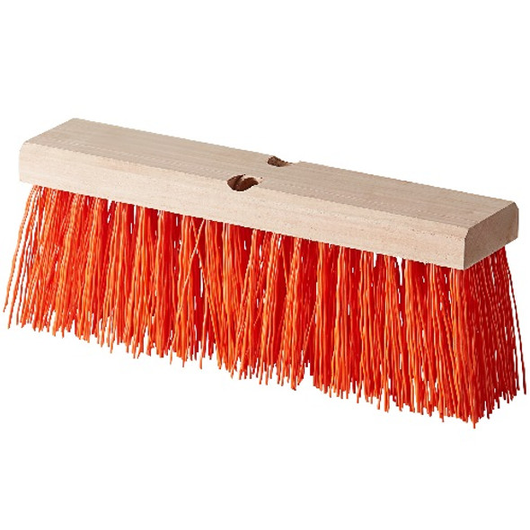 "Carlisle Flo-Pac Heavy Polypropylene Sweep 16"", Orange"