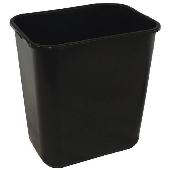 Impact Soft-Sided Plastic Wastebasket 28 QT, Black
