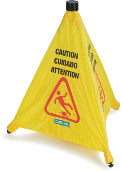 """Safety Cone, 20 inch """"Pop-UP"""" Caution color yellow"""