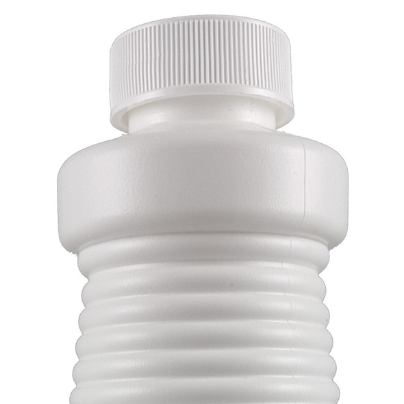 This closure is made of polypropylene and fits 28-410 bottles and jars.
