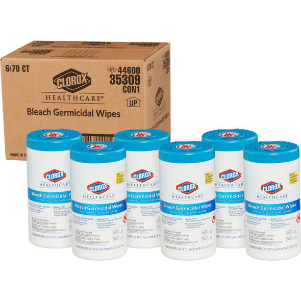 70 wipes per canister, 6 canisters per case