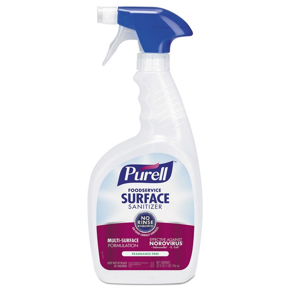 PURELL Foodservice Surface Sanitizer (Quart, 6 per case with 2 trigger sprayers)