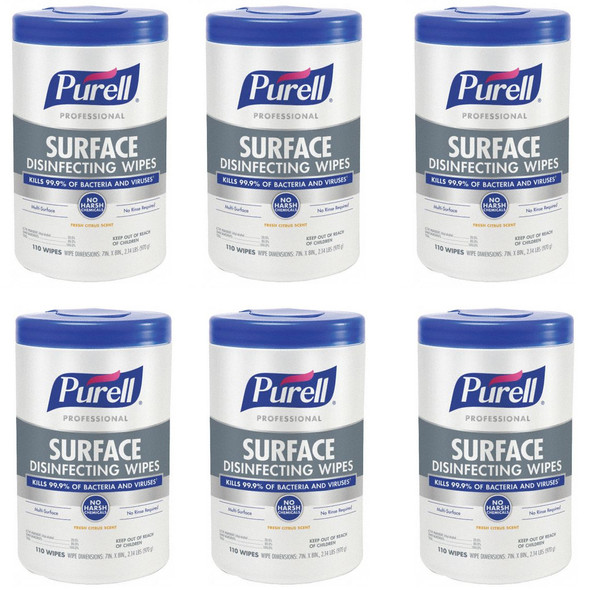 PURELL Professional SURFACE Disinfecting Wipes, 110 count