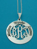 Engraved Circle of Life Monogram Necklace