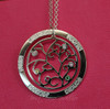 Everscribe Tree of Life Engraved Loop Necklace with Birthstones