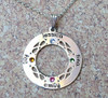 Infinity Circle Of Love Necklace with Birthstones
