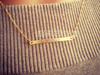 Dainty Skinny Thin Engraved Bar Necklace