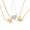 Engraved Mini Floating Heart Necklace