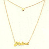 Custom Double Layer Name Necklace With Star