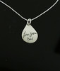 Deep Engraved Signature Handwritten Engraved Tear Drop Necklace