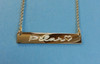 Engraved Gold Bar Nameplate Necklace Gold