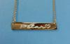Engraved Gold Bar Nameplate Necklace Gold