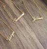 Cursive Gold Plated Name Necklace with Figaro chain