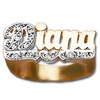 10 mm Diamond Name Ring Diana Style