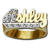 10 mm Diamond Name Ring Ashley Style