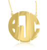 Monogram Necklace Block Style