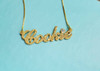 "Personalized Sparkling Gold Plated Name Necklace As Seen On Empire ""Cookie"" Necklace"