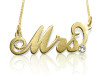 Mrs. Carrie Name Necklace Gold