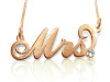 Mrs. Carrie Name Neckalce Gold Plated