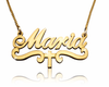 Maria with Cross Gold Plated Name Necklace