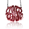 Interlocking Acrylic Monogram Pendant Necklace
