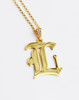 Large Statement Old English Initial Necklace