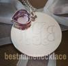 Engraved Interlocking Monogram Necklace