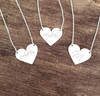 Mini Heart Engraved Necklace Free Hand Style.